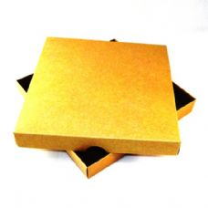 "6"" x 6"" Brown Kraft Invitation Boxes For Handmade Cards"